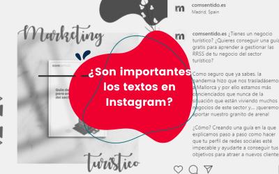 ¿Son importantes los textos en Instagram?