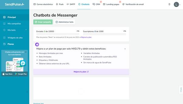 Herramienta-de-creación-de-chatbots-de-la-plataforma-SendPulse.